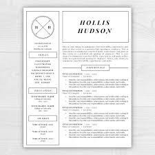 Free Monogram Resume Template Monogram Resume Template Professional Resume Free Resume 1