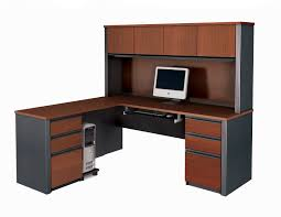 shaped desk hutch free delivery bestar prestige l shaped desk and hutch chic office desk hutch