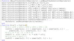 equality constraint operator in matlab