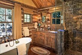 Delightful Cabin Bathroom Decorating Ideas Cabin Bathroom Ideas Bathroom Vanity  Fashionable Inspiration Log Cabin ...