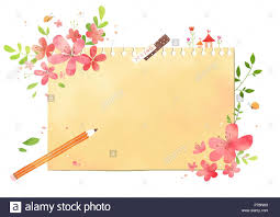 Spring Photo Cards Vector A Card Template Frame Border For A Text With