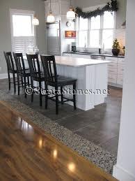 Wood Floor To Tile Transition Kitchen Stone Floors