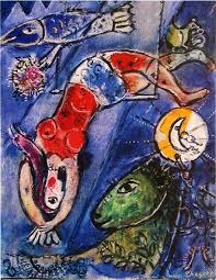 blue circus painting marc chagall blue circus art print