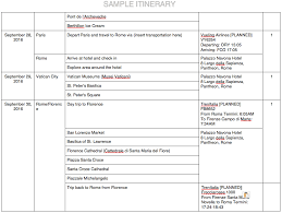 Sample Itinerary Forms How To Create A Travel Itinerary For Your Visa Application