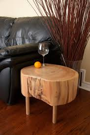 Live Edge Tree Trunk Coffee Table