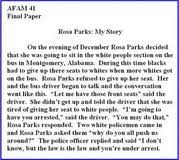 rosa parks essay introduction self assessment essay english rosa parks essays and papers