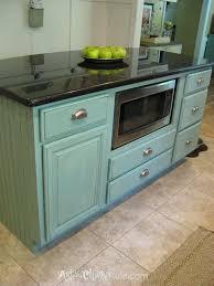 Duck Egg Blue Kitchen Cabinets Kitchen Island Makeover Duck Egg Blue Chalk Paint Artsy