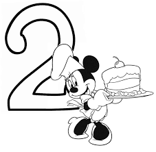 Mickey Mouse Minnie Coloring Pages At Happy Birthday - glum.me