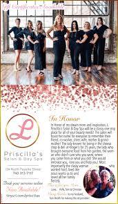 Gif Certificates Available, Priscilla'a Salon & Day Spa