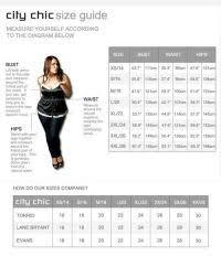 City Chic Size Chart City Chic Size Chart