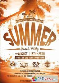 Summer Beach Party Vol.5 Premium Flyer Template + Facebook Cover ...