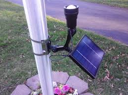Solar Spot Lights For Flag Pole Commercial Solar Flagpole Light Ultra Series Cree Fixed