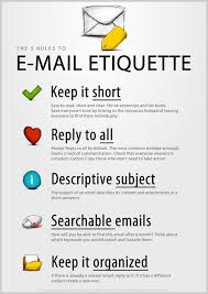 The 5 Rules To Email Etiquette Hr Work Etiquette Business
