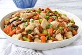 almond chicken and vegetables