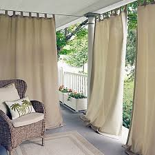 screened porch sheer curtains. Image Of Elrene Matine Indoor/Outdoor Tab Top Window Curtain Panel Screened Porch Sheer Curtains C