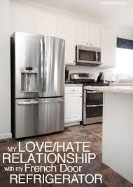 french door refrigerator in kitchen. French Door Refrigerator Love Hate Relationship In Kitchen