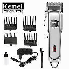 Tông đơ cắt tóc Kemei KM-1998 công suất mạnh có màn hình LED hiển thị pin  tiện lợi, dùng để fade tóc, tattoo cạo trắng thích hợp sử dụng salon tóc,  barber