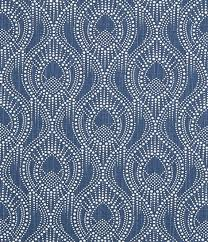 Designer Home Decor Fabric New Navy Blue Home Decor Fabric By The Yard Designer Subtle Etsy