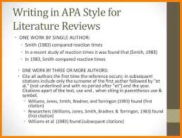 literature review example apa literature review template apa sample presentation 12 638