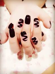 black chocolate syrup inspired nail art design let your nails look like you ve