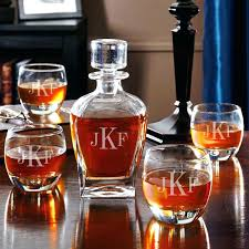 monogrammed whiskey decanter personalized engraved