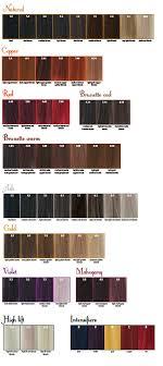 Maraes Hair Color Chart Maraes Fargekart