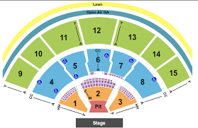 Great Woods Seating Chart Xfinity Center Seating Chart Mansfield