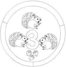 Small Picture number 3 mandala coloring matemtica Pinterest Mandala