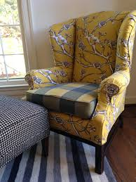 cover my furniture. Nice Yellow Wingback Chair With Furniture Branches  Cover Pattern Ideas Cover My Furniture