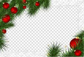 Christmas Ornaments Border Green And Red Christmas Themed Border Borders And Frames