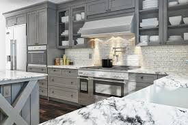 ... the better option is to go with a light gray option so the space feels  more open, a darker color cabinet may make the room feel darker and smaller.