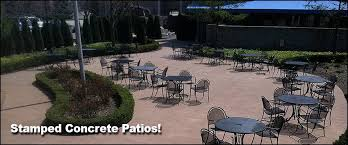 macomb county oakland county mi concrete contractors stamped concrete patio design metropolitan concrete