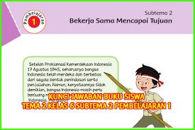 Contoh soal bahasa indonesia kelas 7 semester 1 (ganjil). Kunci Jawaban Buku Siswa Kelas 6 Tema 2 Halaman 45 46 48 49 50 Sanjayaops