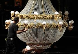 throwing light on the revamped phantom of the opera and its signature chandelier photos cleveland com
