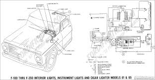 ford truck technical drawings and schematics section h wiring 1969 f 100 thru f 350 interior instrument lights cigar lighter models 81 85