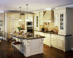 Kitchen With Dark Wood Floors Stainless Steel Single Handle Faucet Dark Wood Floors With White