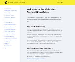 Anatomy Of A Content Style Guide Mailchimp