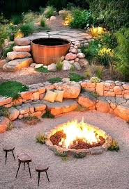 diy fire pit seating area stone bench sitting easy cheap patio design ideas s51 area