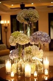 tall hydrangea centerpieces. Beautiful Centerpieces Purple And White Tall Hydrangea Centerpieces For C
