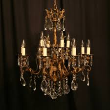 an italian gilded cast brass 12 light antique chandelier