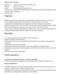 17 Free Assistant Project Manager Resume Samples Sample Resumes