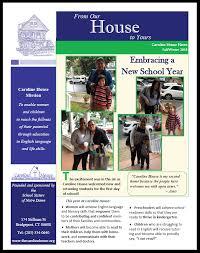 News Letters Newsletters Caroline House Inc