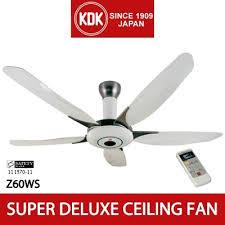 ceiling fan kdk z60ws 150cm super deluxe ceiling fan with 1 f