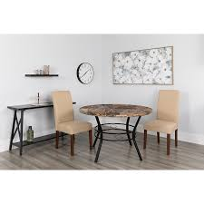 swirled marble like table this stunning dining room