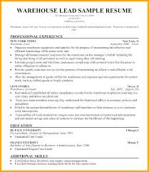 Warehouse Associate Resume Objective Sample Iamfree Club