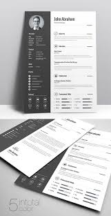 Modern Minimal Resume Template Free Freebie Minimal Creative Clean Resume Free Download