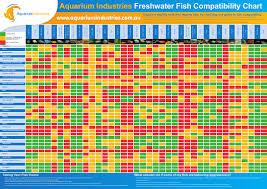 Freshwater Fish Compatibility Chart Aquarium Industries