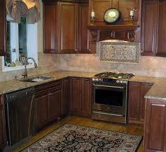 Kitchen Tile Backsplash Ideas With Dark Cabinets Tile Design Ideas