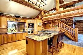 log countertop log log cabin kitchen with island and large wood beams log end log countertop log cabin home kitchen