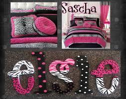 More Black And White With Pink. Zebra Cheetah Polka Dot Print Bedding Set.  Love